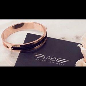 Ashley Bridget rose gold hair tie bracelet